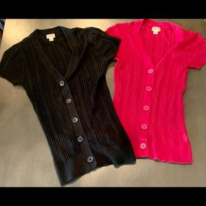Two Favorites, 1 price! 2 Mossimo Sz. L. Cardigans
